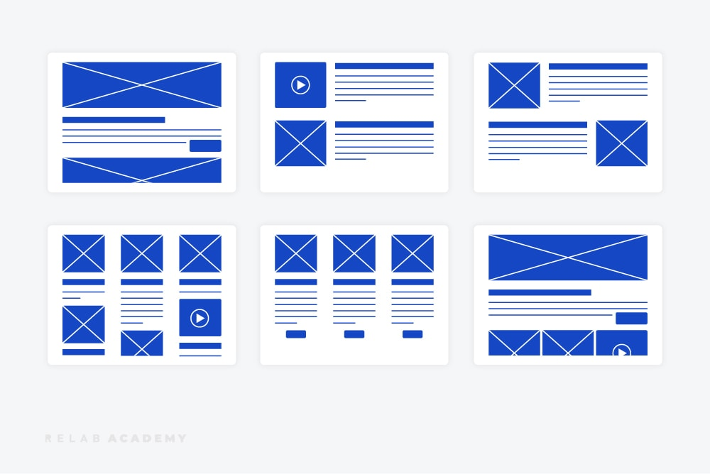 Digital product wireframes